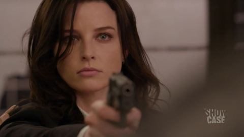 Rachel Nichols as Kiera Cameron in 'Continuum'.