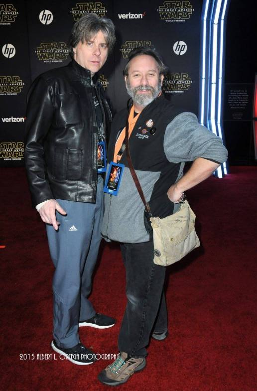 """Jeff """"Solo"""" Donoho and Shawn """"Obi-Shawn"""" Crosby on the red carpet."""