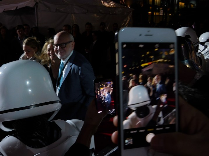 Frank Oz appears impish as he enters the premiere.