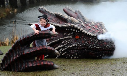 Caerphilly Castle Has a Dragon Problem