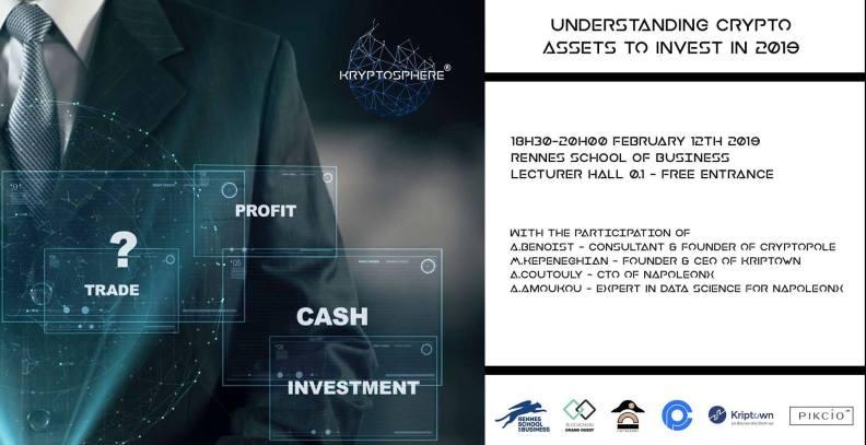 KryptoSphere Rennes vous propose de comprendre ce que sont les crypto-actifs, pour investir au mieux en 2019.proposait