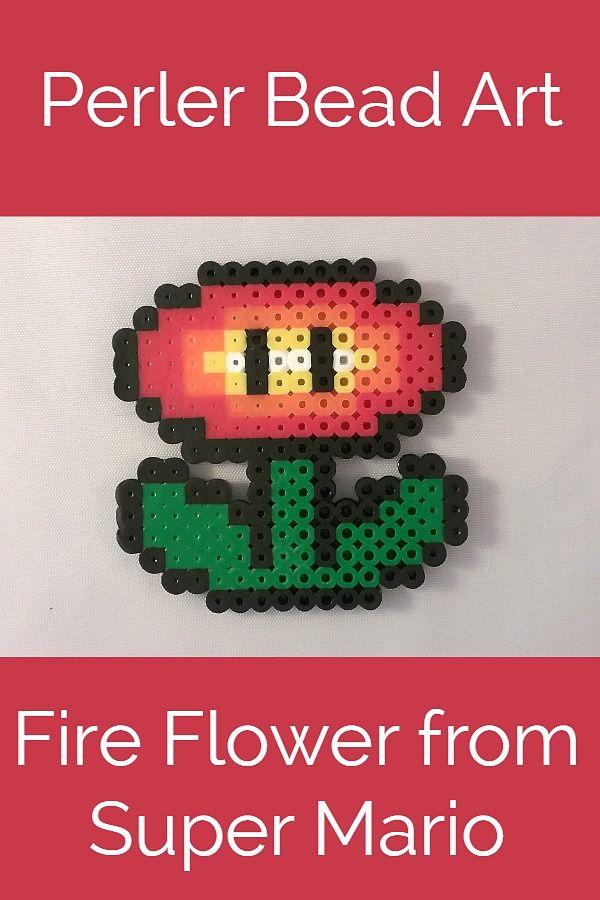 Perler Bead Fireflower From Super Mario Krysanthe