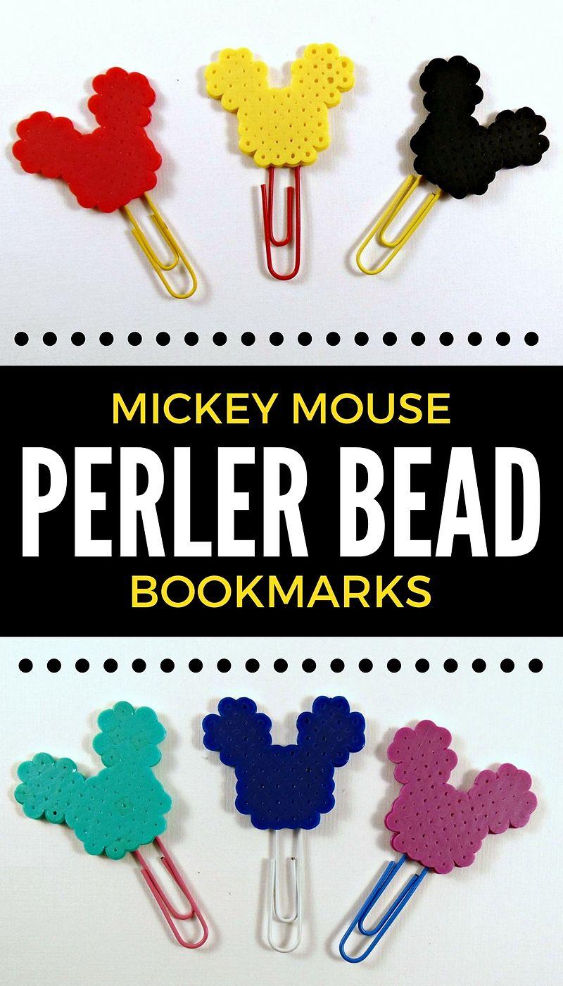 Diy Mickey Mouse Perler Bead Bookmarks Krysanthe
