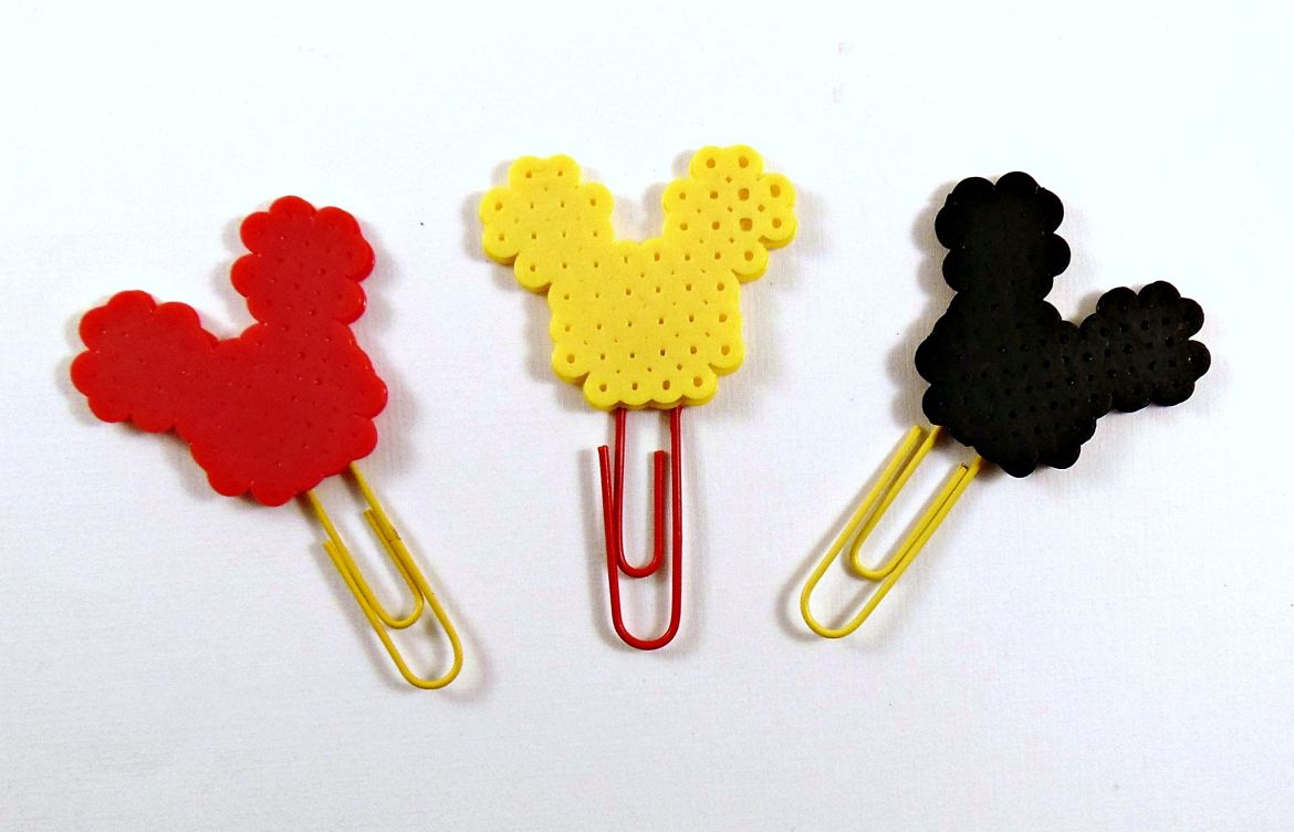 DIY Mickey Mouse Perler Bead Bookmarks