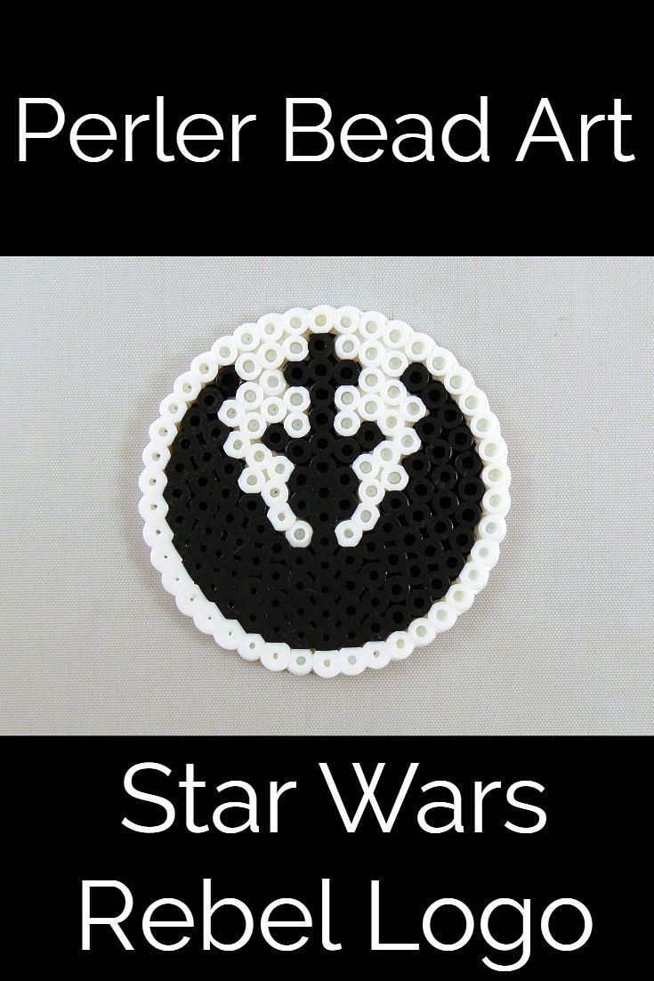 Perler Bead Rebel Logo from Star Wars