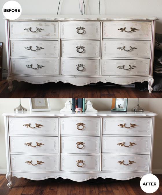 repainted this vintage dresser
