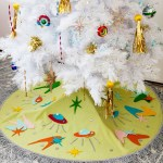 Diy No Sew Retro Atomic Space Age Tree Skirt Melodrama
