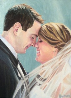 "Mr. and Mrs. Judkins, 2014, Oil on Canvas, 12x9"", Krystal Booth."