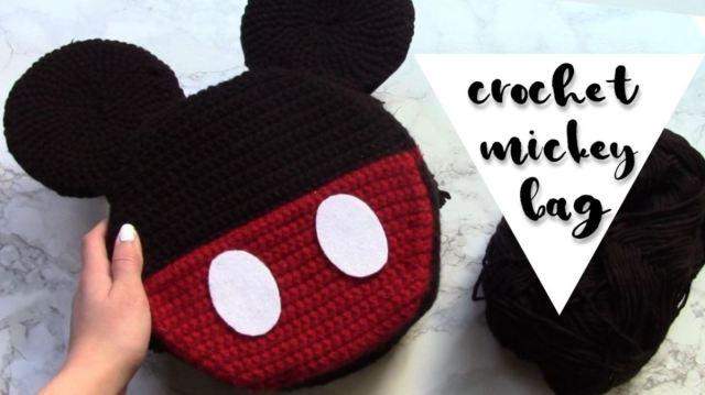 Crochet Mickey Mouse Purse Crochet Tutorial Krystal Everdeen