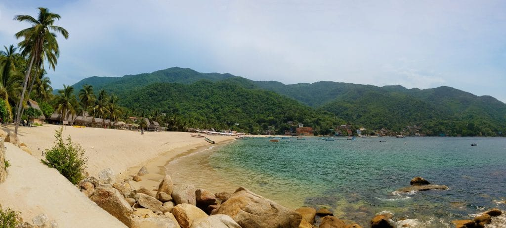 Panorama Of Yelapa Beach , Puerto Vallarta presented by Krystal International Vacation Club