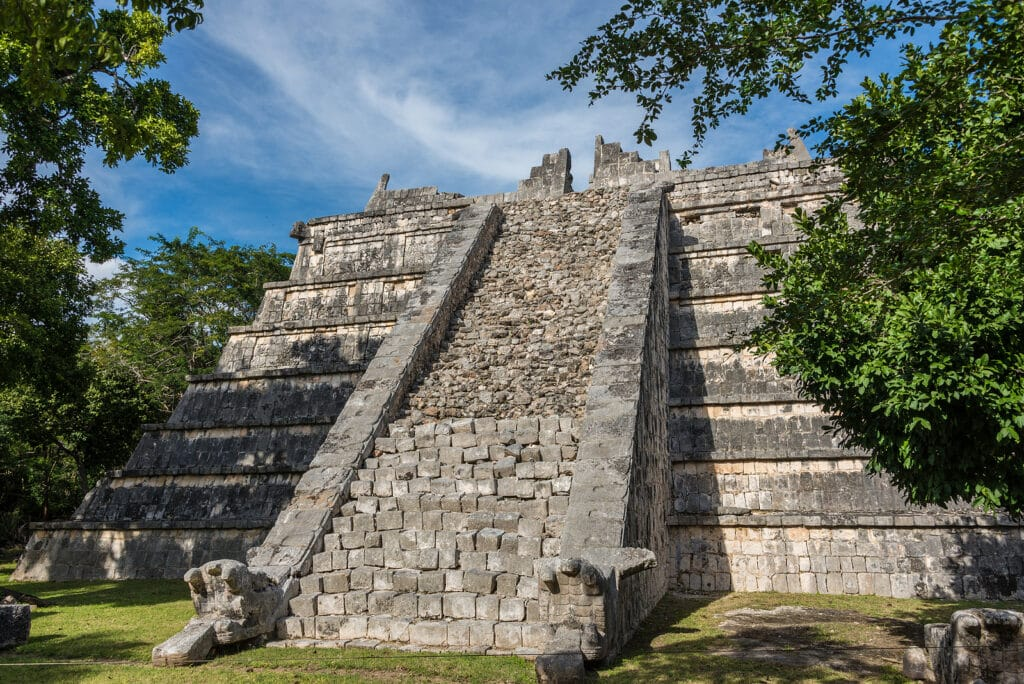 Beautiful view of historic Mayan Building. Taveling through Quintana Roo. by Krystal International Vacation Club