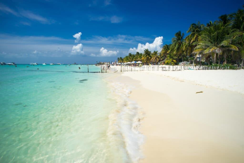 An idyllic beach on Isla Mujeres, Cancun, Mexico