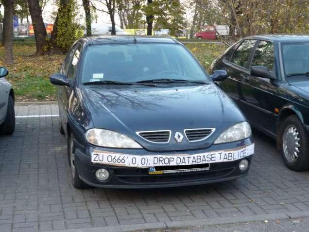 SQL Injection samochód