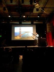 Kishore Hari talking about bridges. Very funny guy! (Credit: Krystian Science)