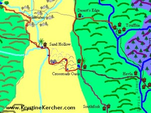 Map of Bjorn's Trip to Goldwater