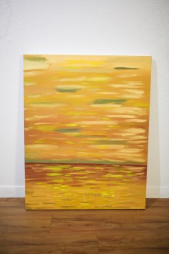Golden Sunset   Acrylic on Canvas   24x30''   $200.00