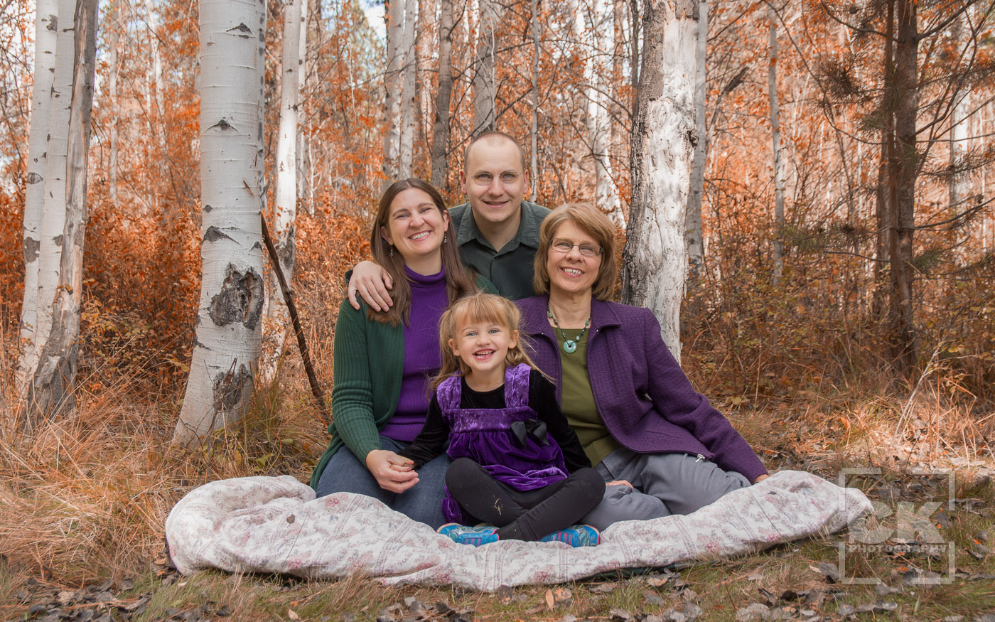 Chris Kryzanek Photography family - fall colors