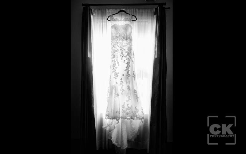Chris Kryzanek Photography - Bridal Gown in window