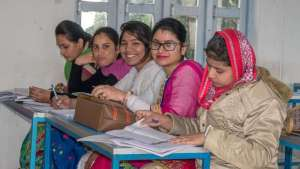 Lehramtsstudentinnen am KS College of Education: Seminar