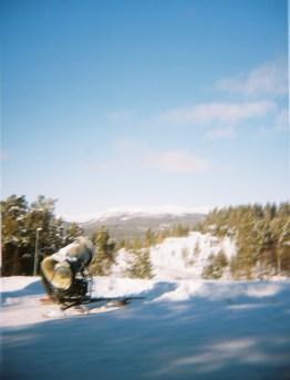 A snow canon at Dombås
