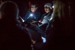 Choir in the dark.