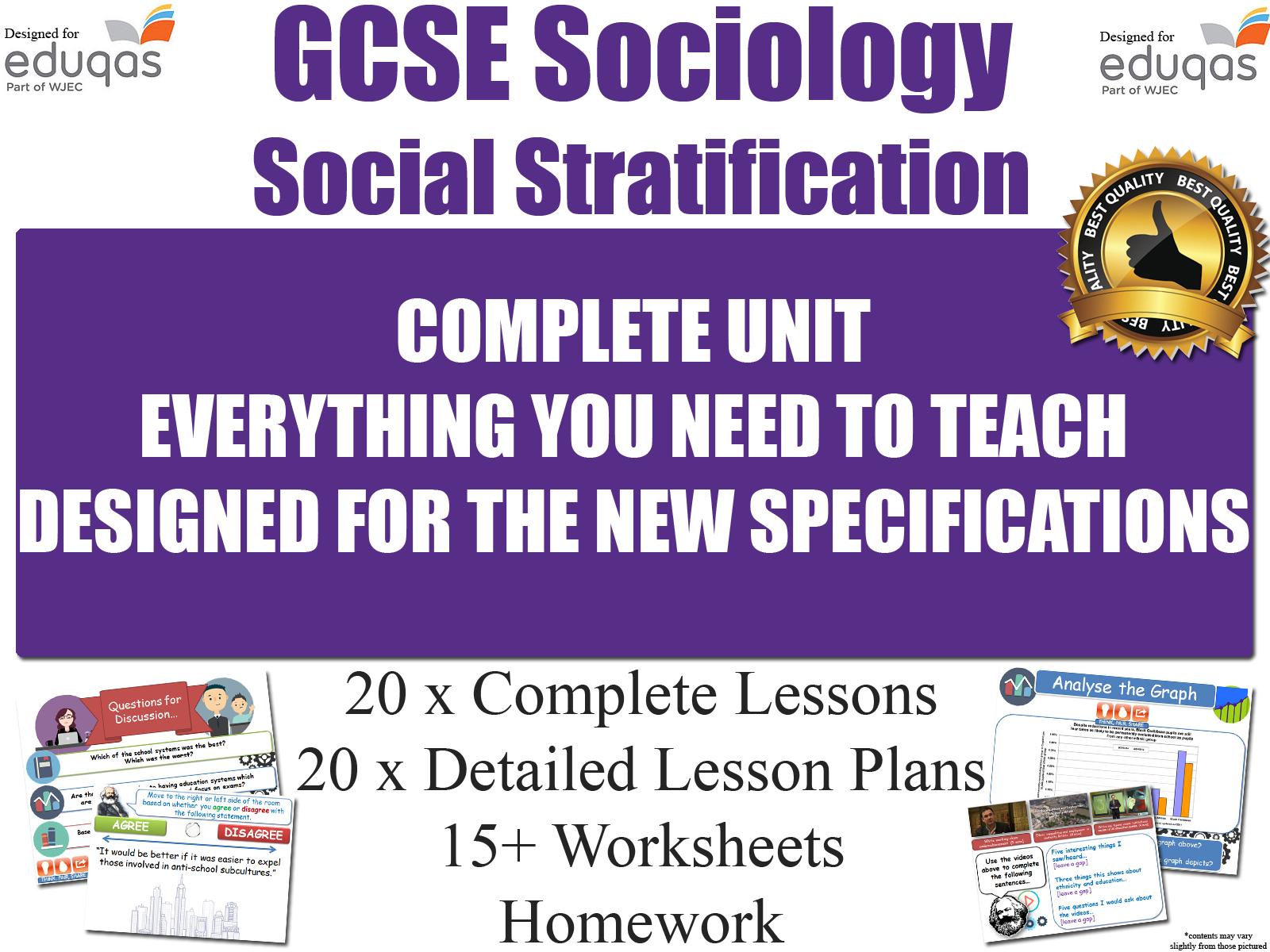 Social Stratification Gcse Sociology Resources