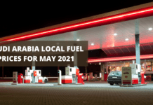 Saudi Arabia local fuel prices for May 2021