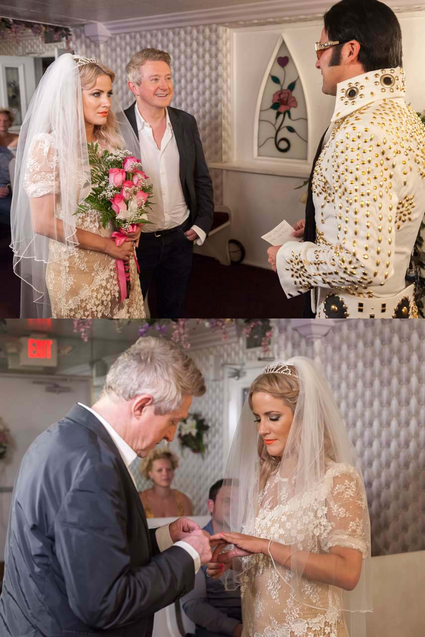 Caroline Flack And Louis Walsh Tie The Knot In Las Vegas