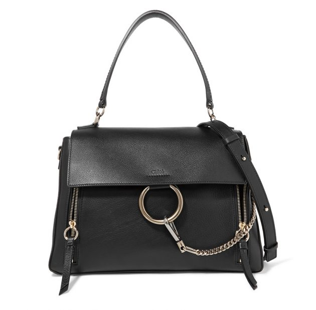 black leather handbags