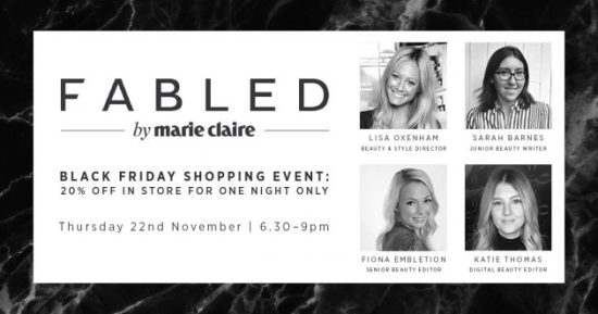 fabled by Marie Claire Black Friday shopping event