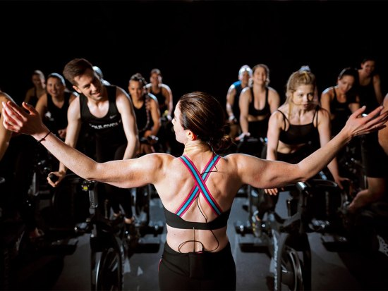 Inside a SoulCycle class