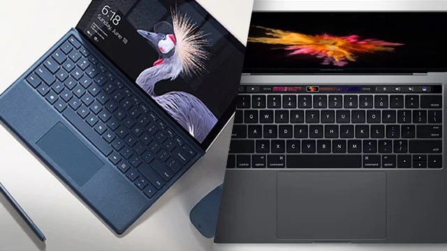 New Surface Pro 2017 Vs MacBook Pro Whats The Difference Trusted Reviews