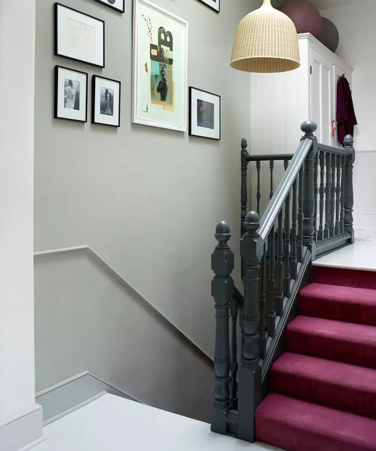 Staircase Ideas For Your Hallway That Will Really Make An Entrance   Stair Wall Colour Design   Wood Wall   Before And After   Room Wall   Hall Colour Combination   Family