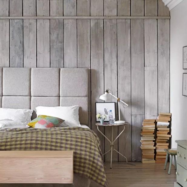 Grey And Mustard Bedroom Wallpaper