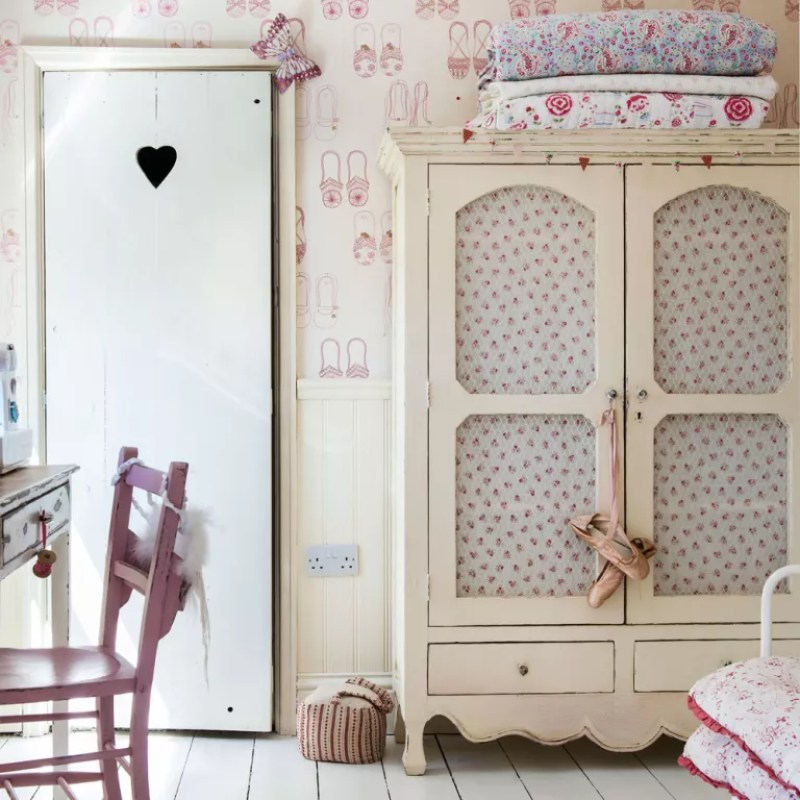 upcycled furniture in a shabby chic country style dining room