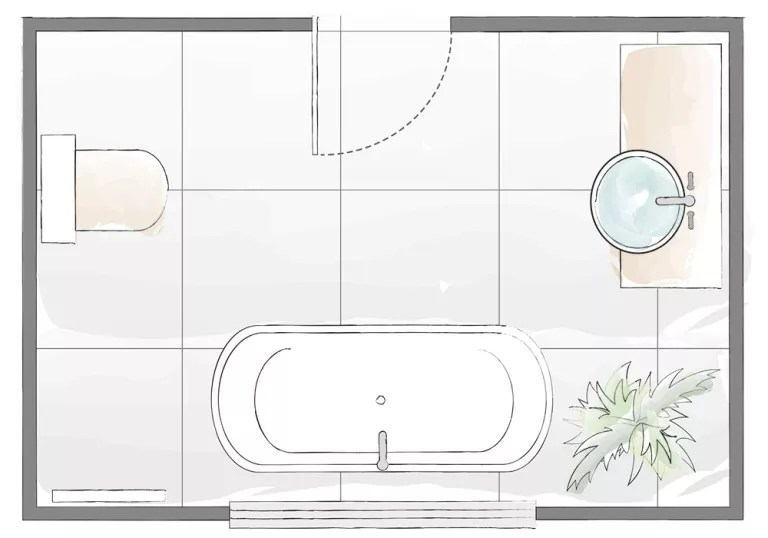 Bathroom Layout Plans For Small And Large Rooms