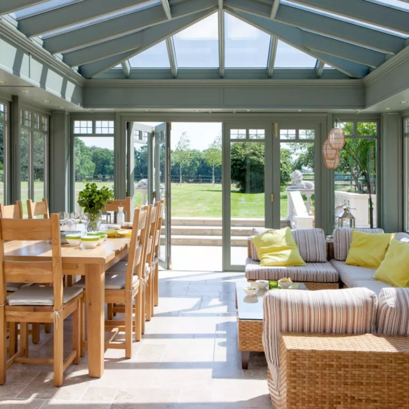 Green conservatory extension