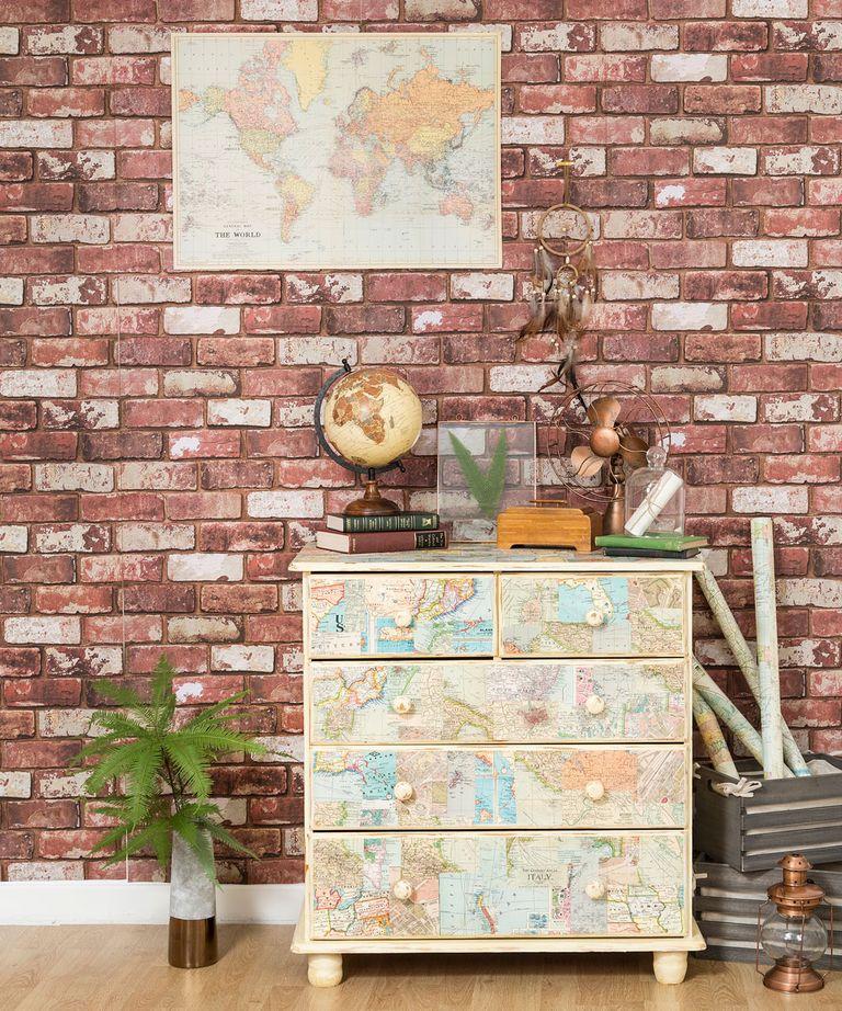 salon dekorasyonunda duvar kağıdı