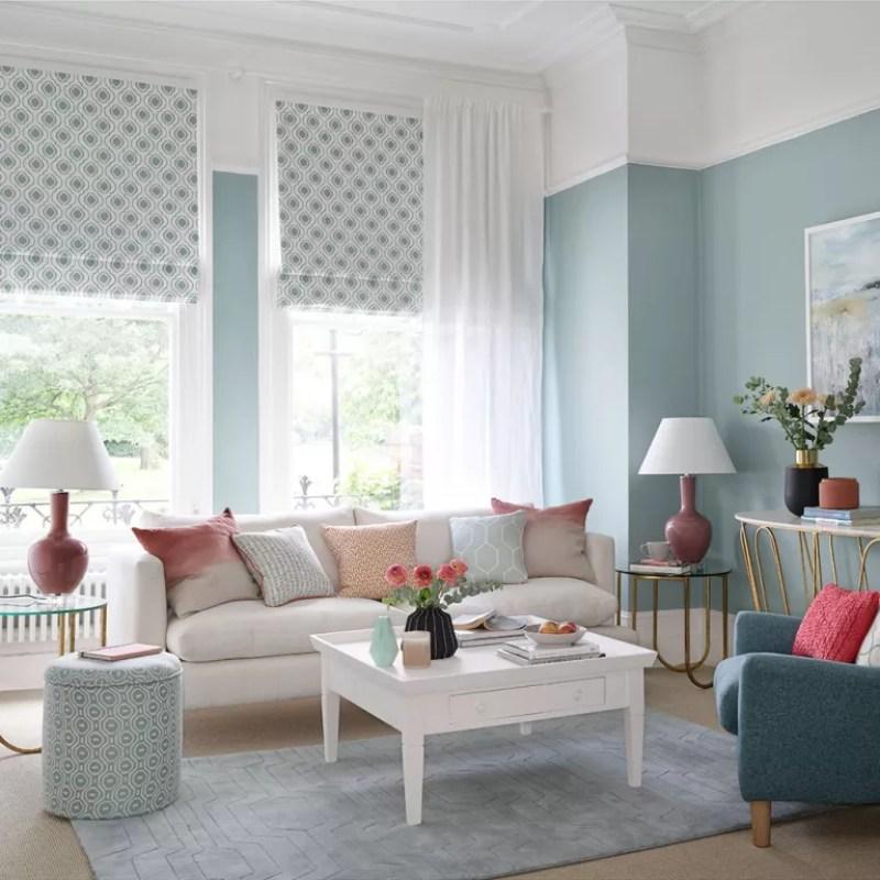 pale blue Living room lighting ideas