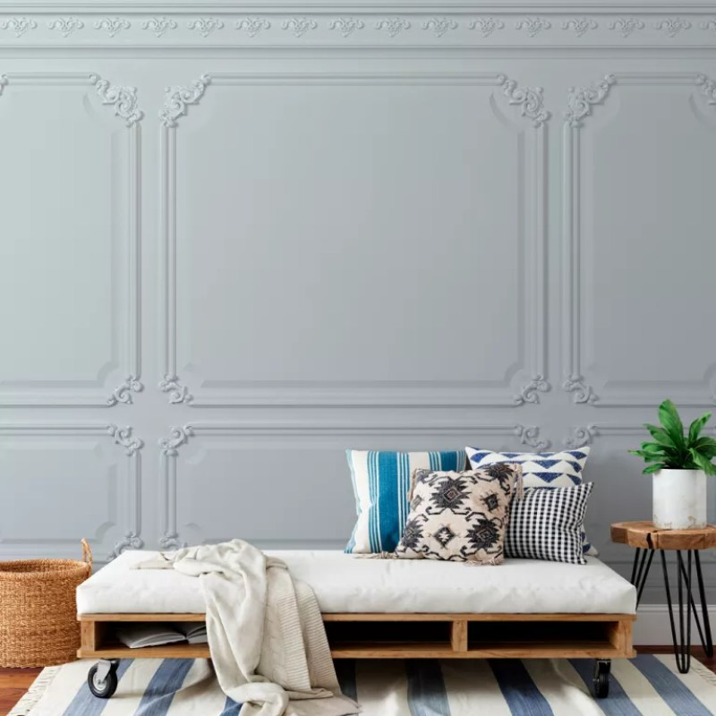 wall panelled wallpaper