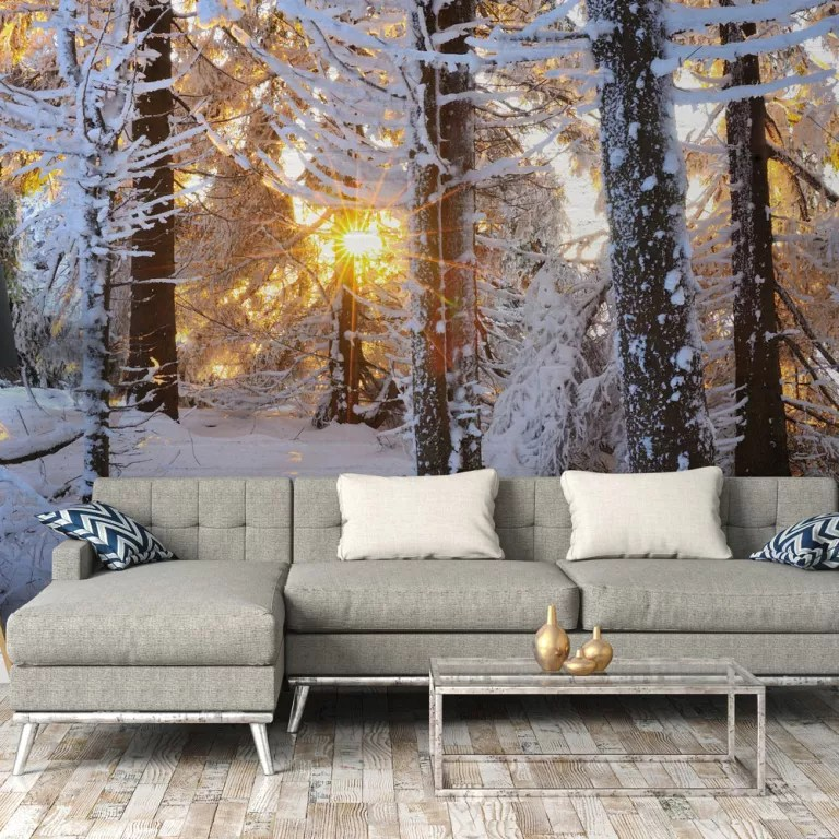 Deck Your Halls And All Your Rooms With Removable Christmas Wallpaper From Wallsauce