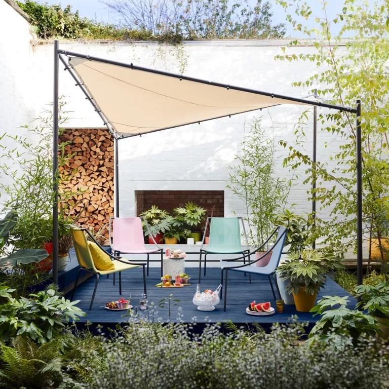 garden shade ideas planted pergola