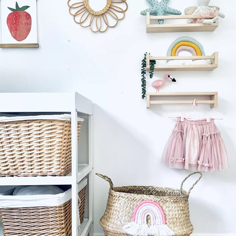 baby clothes storage with mini shelves