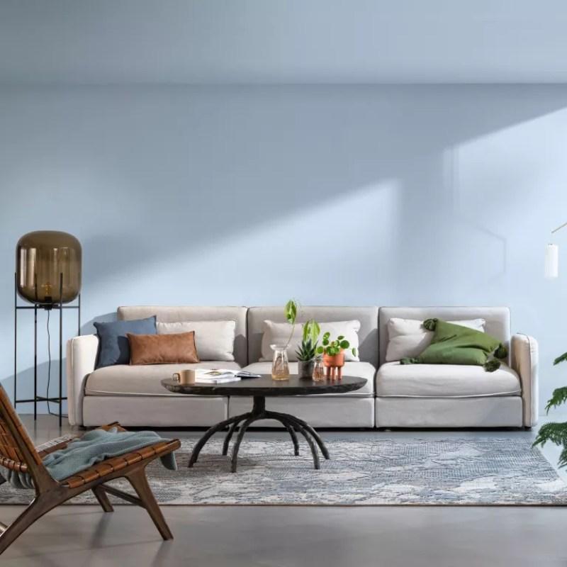 bright skies painted living room