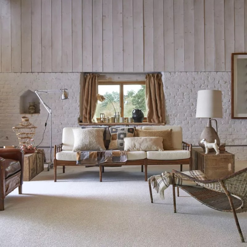 a neutral living room scheme in a country home - carpetright