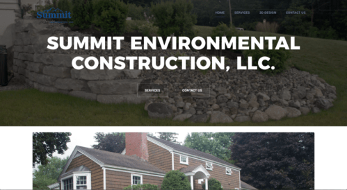 Summit Environmental Construction Website Design | KSAVAGER Design & Photography