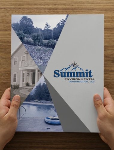 Summit Environmental Construction Landscaping Sales Folders Branded Promotional Merchandise by KSAVAGER Design & Photography
