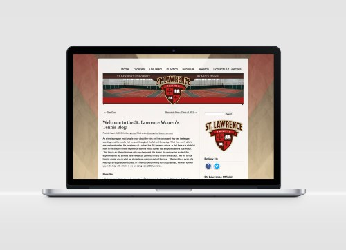 St Lawrence University Tennis Team Web Design by KSAVAGER Design & Photography Canton NY