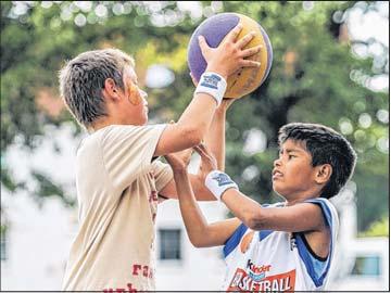 Kinder- und Jugendspiele  – Streetball –