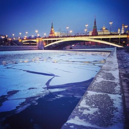 Eis auf der Moskwa